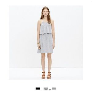 Madewell summer striped two tiered dress